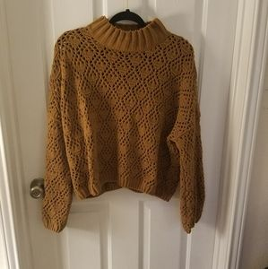 FLASH SALE🔥NWT POL Cropped Chenille Knit Sweater
